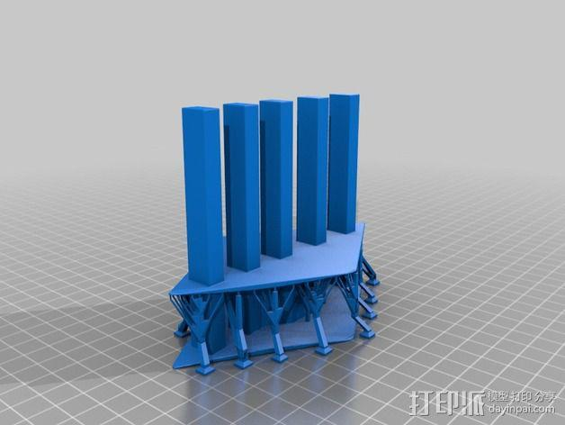 手指木偶人支架 3D模型  图3