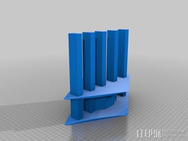 手指木偶人支架 3D模型  图2