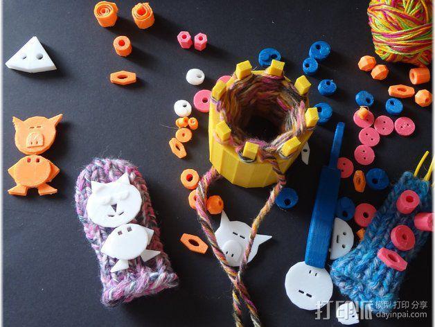 手指木偶人支架 3D模型  图5