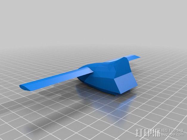长翼滑翔机 3D模型  图2