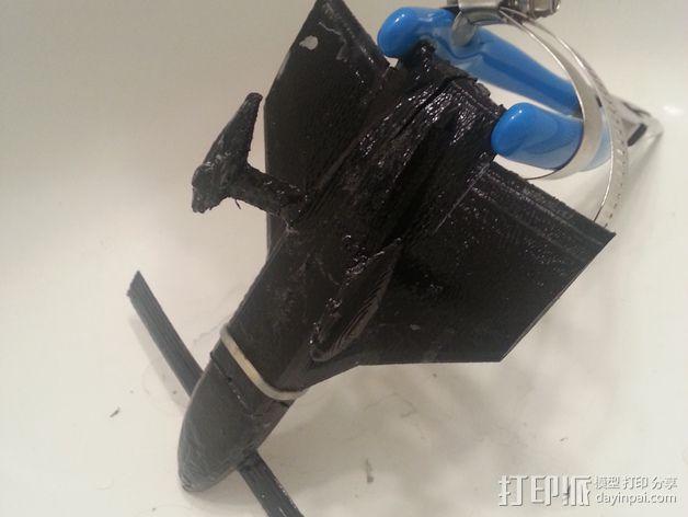 长翼滑翔机 3D模型  图1