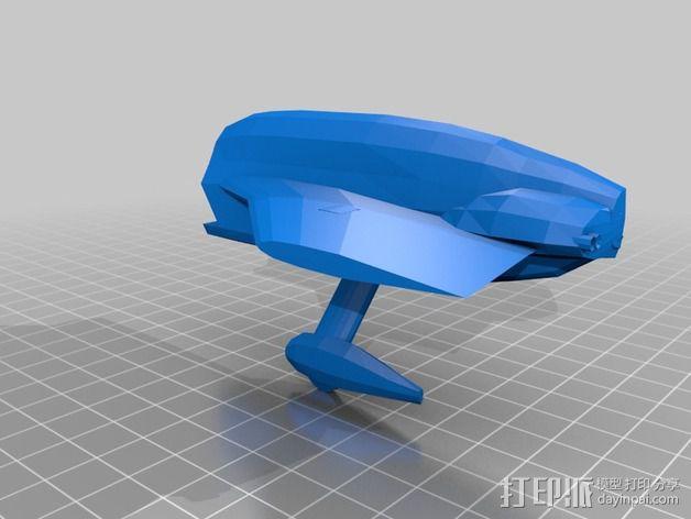 长翼滑翔机 3D模型  图3
