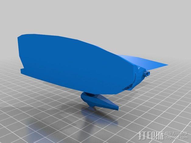 长翼滑翔机 3D模型  图5