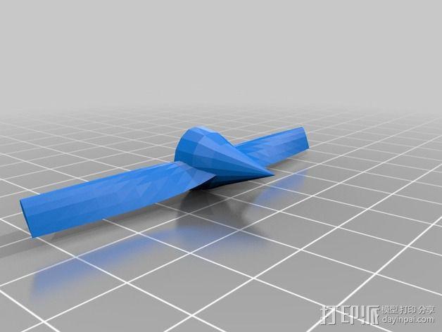 长翼滑翔机 3D模型  图4