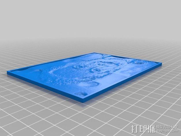 伊隆·马斯克人像透光浮雕 3D模型  图1