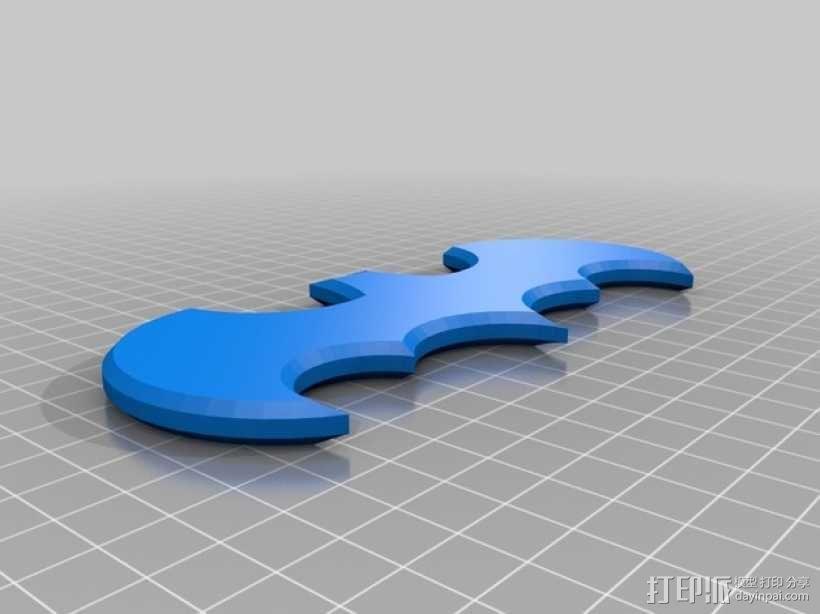 蝙蝠侠Logo 3D模型  图1