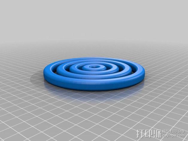 回转仪 3D模型  图2