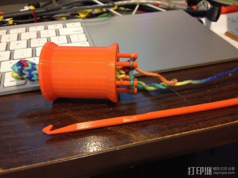 编织线轴和编织针 3D模型  图1