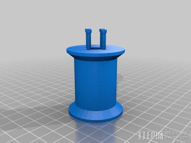 编织线轴和编织针 3D模型  图2