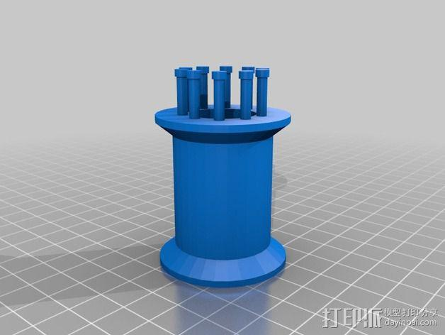 编织线轴和编织针 3D模型  图5