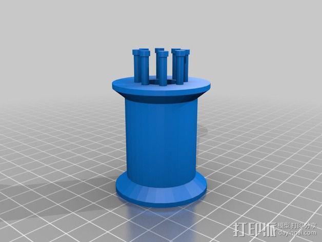 编织线轴和编织针 3D模型  图4