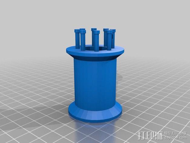 编织线轴和编织针 3D模型  图8