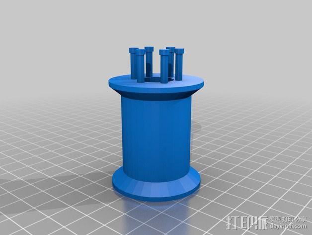 编织线轴和编织针 3D模型  图9