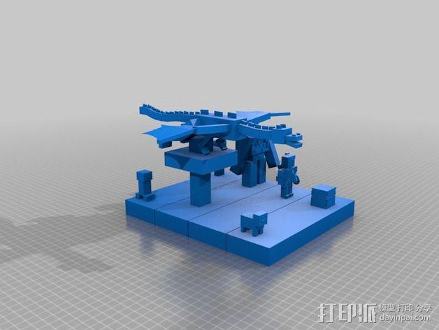 我的世界 游戏角色套组 3D模型  图1