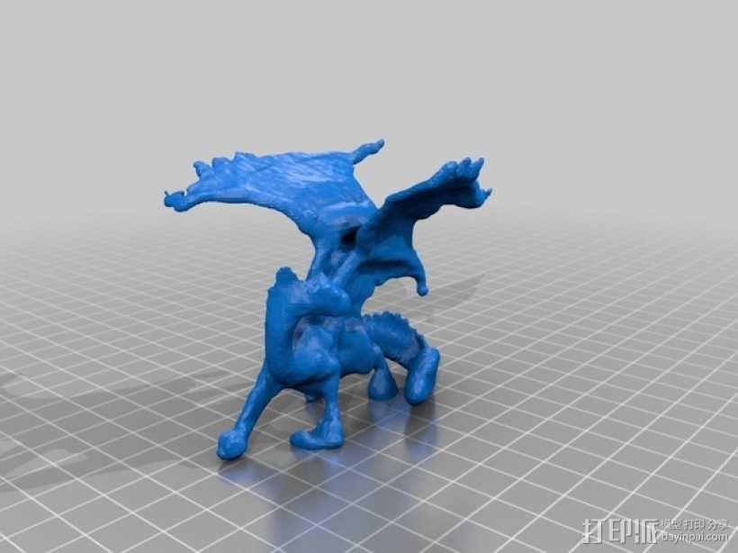 龙  3D模型  图1