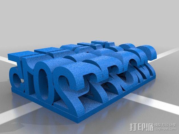 立体字母模型 3D模型  图2
