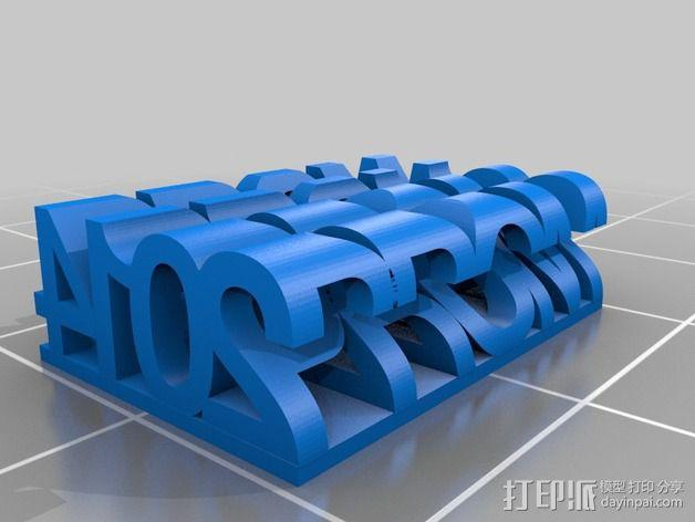 立体字母模型 3D模型  图3