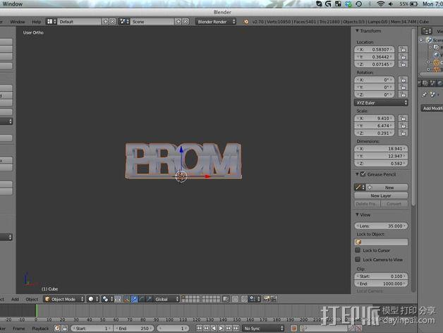 立体字母模型 3D模型  图5