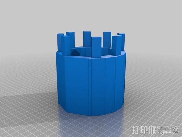编织器线轴   3D模型  图2