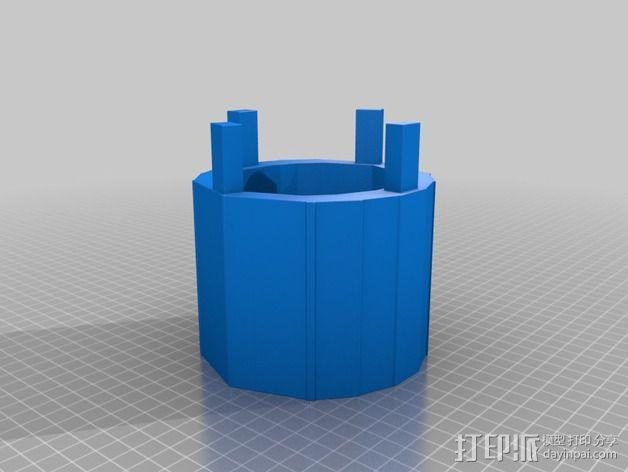 编织器线轴   3D模型  图3