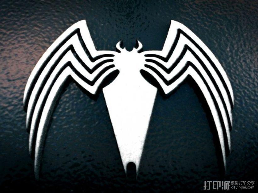毒蜘蛛标志 3D模型  图1