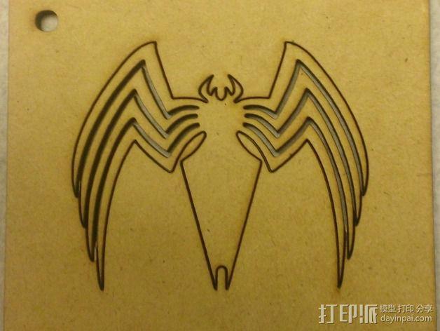 毒蜘蛛标志 3D模型  图2