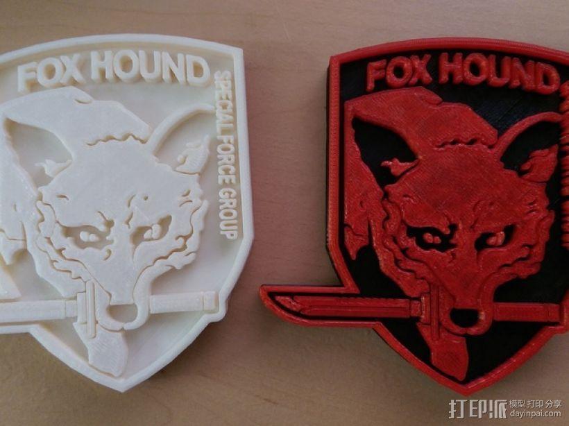 猎狐犬徽章 3D模型  图1