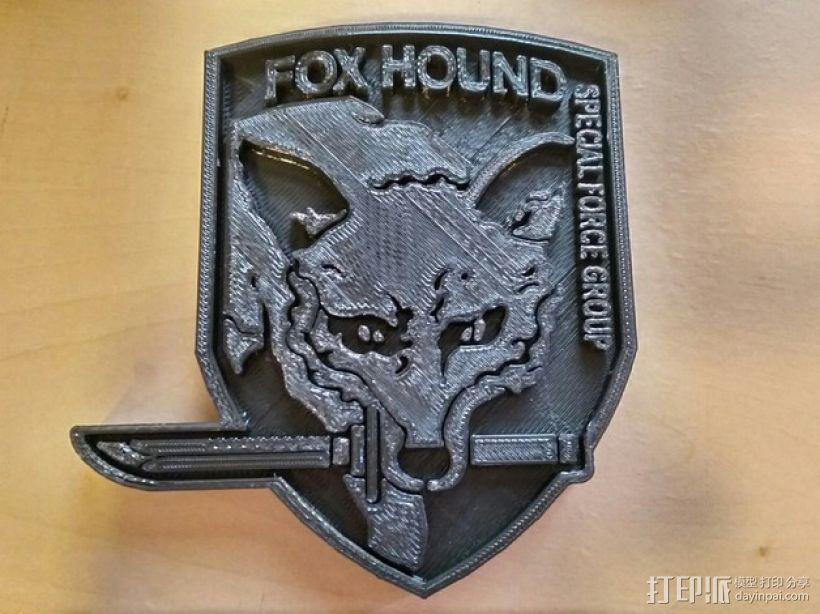 猎狐犬徽章 3D模型  图3