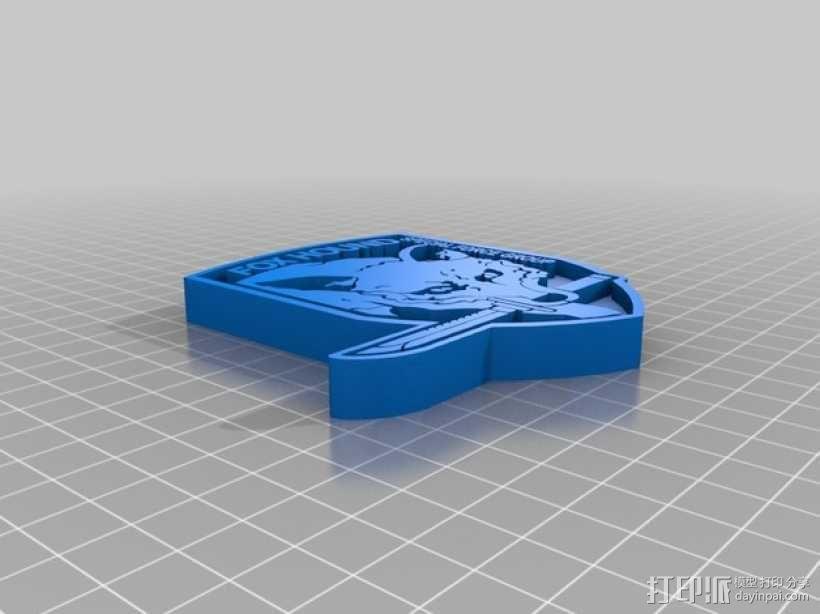 猎狐犬徽章 3D模型  图4