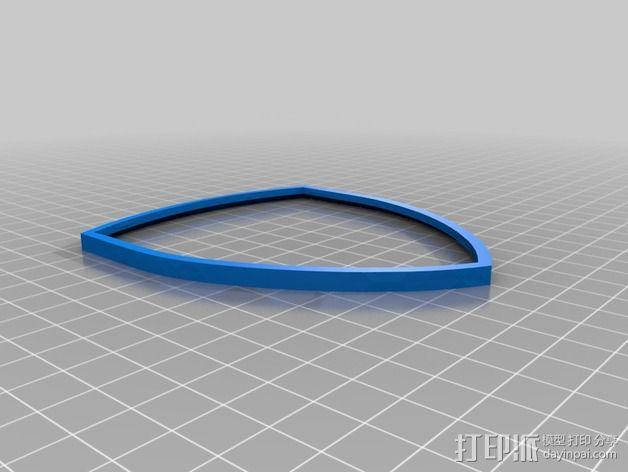 法拉利汽车标志 3D模型  图3