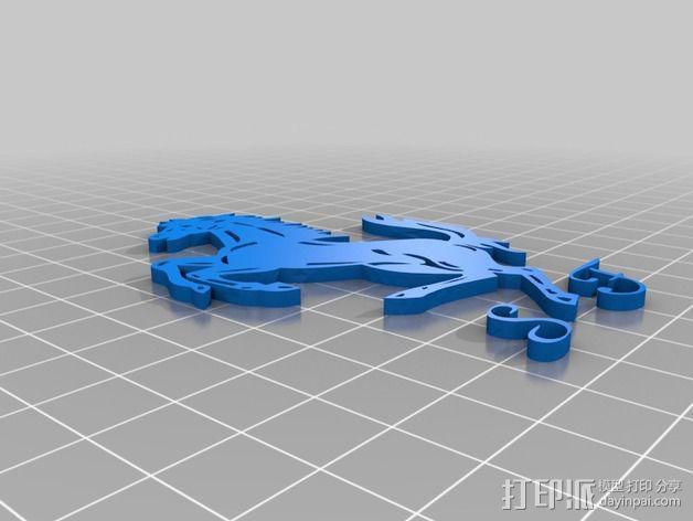 法拉利汽车标志 3D模型  图5