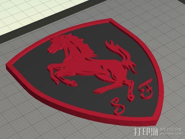 法拉利汽车标志 3D模型  图6