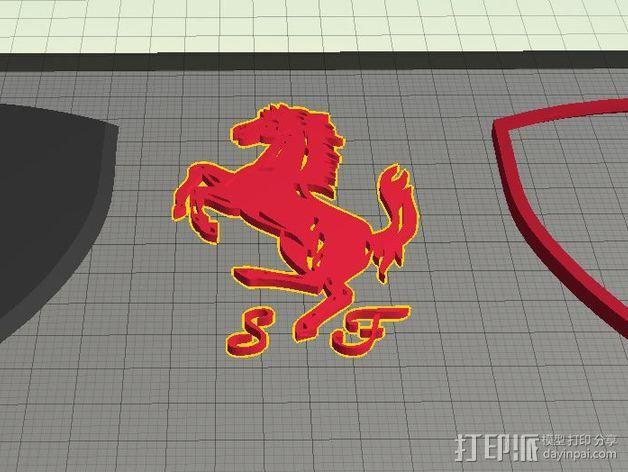 法拉利汽车标志 3D模型  图8