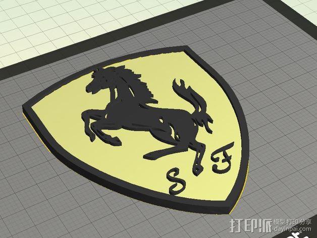 法拉利汽车标志 3D模型  图7