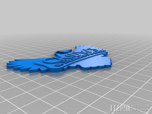 权利的游戏 乌鸦标志 3D模型  图2