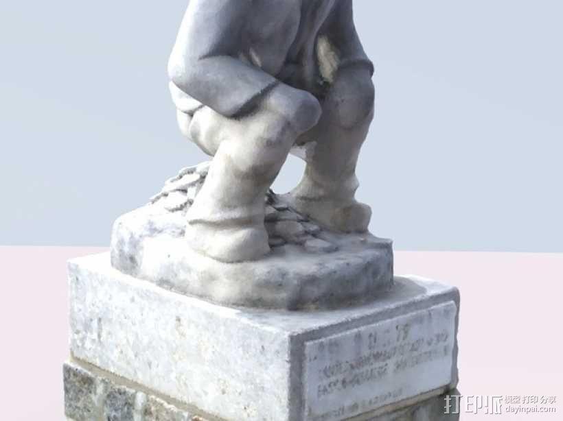Geldscheißer雕塑 3D模型  图1