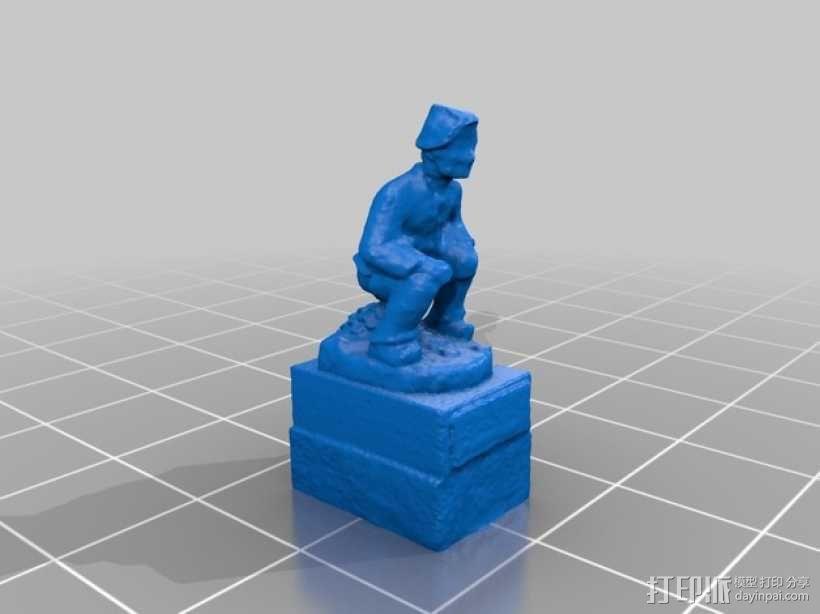 Geldscheißer雕塑 3D模型  图2