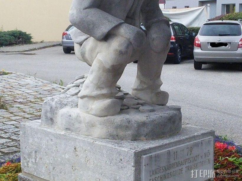 Geldscheißer雕塑 3D模型  图3