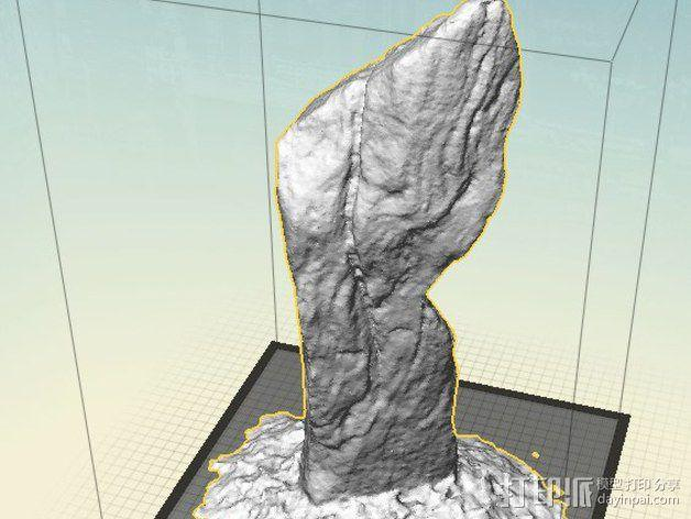 卡兰尼世巨石 3D模型  图2