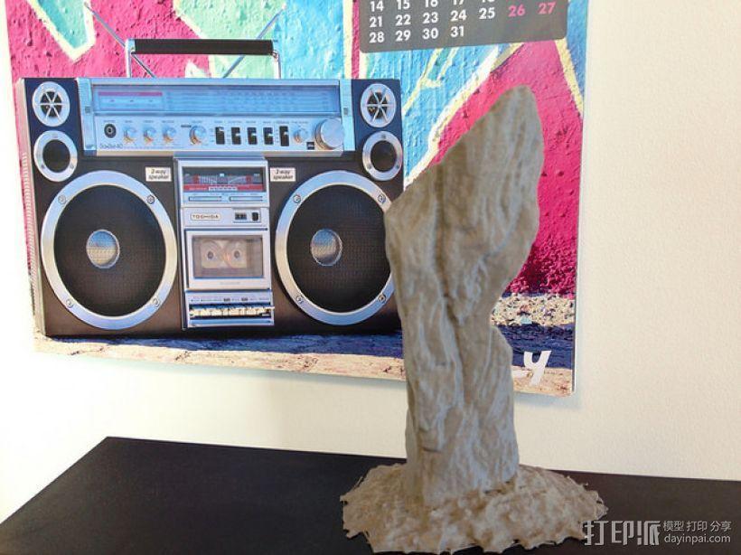 卡兰尼世巨石 3D模型  图1