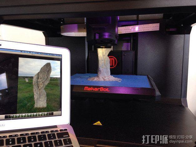 卡兰尼世巨石 3D模型  图4