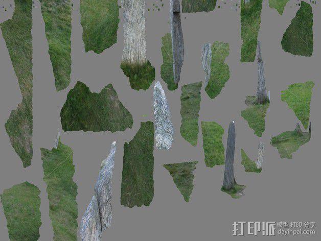 卡兰尼世巨石 3D模型  图7