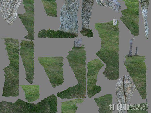卡兰尼世巨石 3D模型  图8
