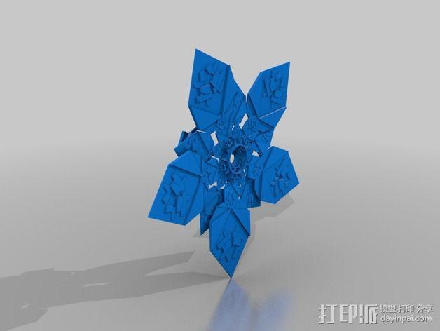 潘洛斯花盘 3D模型  图3