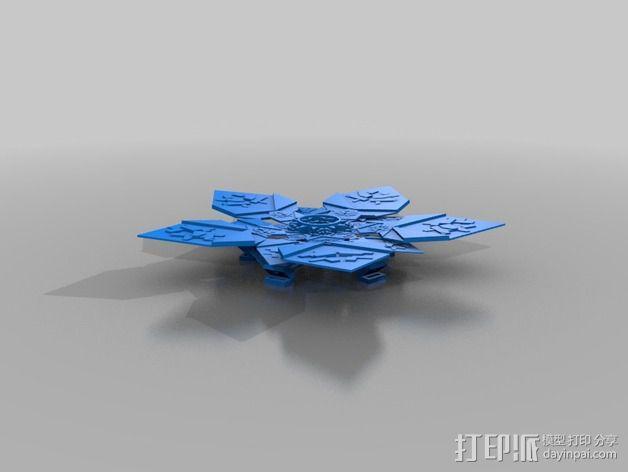 潘洛斯花盘 3D模型  图5
