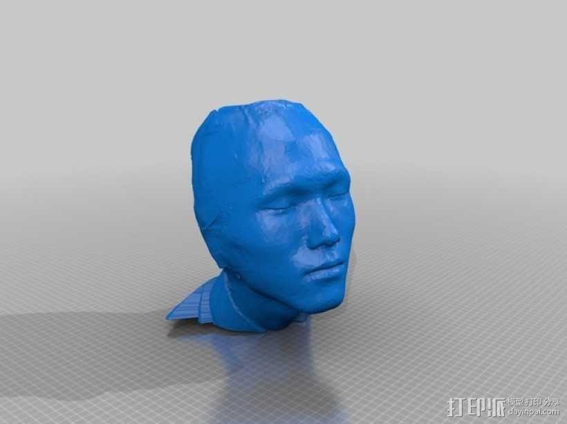 中国人 我的脸 3D模型  图1