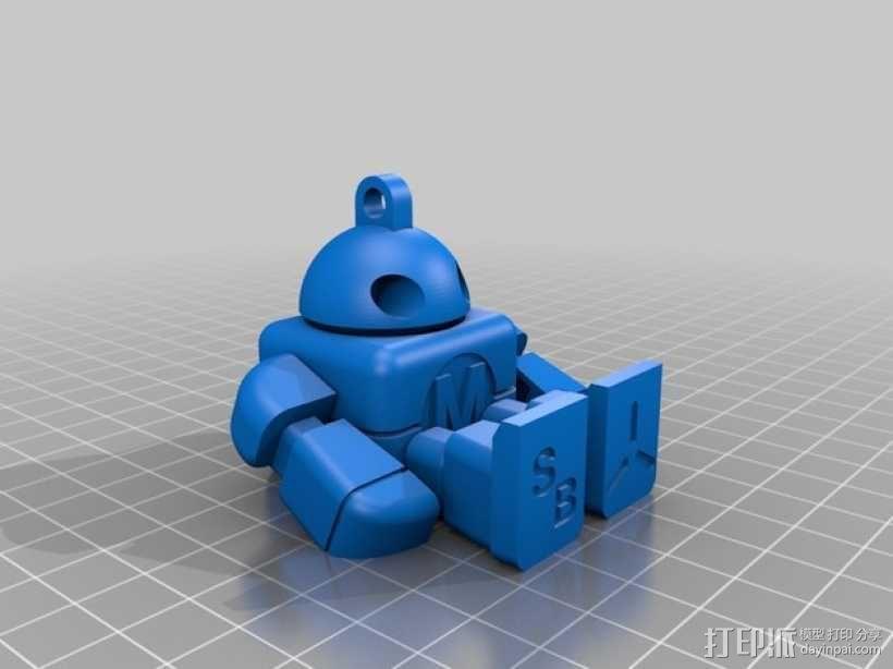 创客机器人模型 3D模型  图2