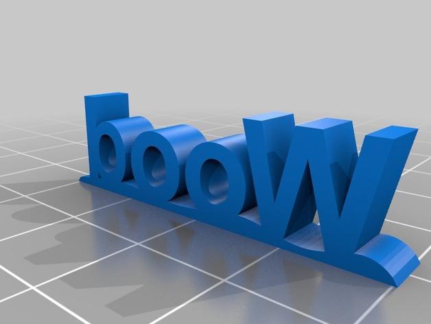 木质Logo  3D模型  图2