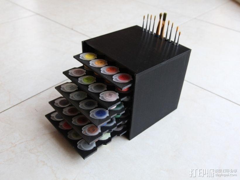 颜料箱 3D模型  图1