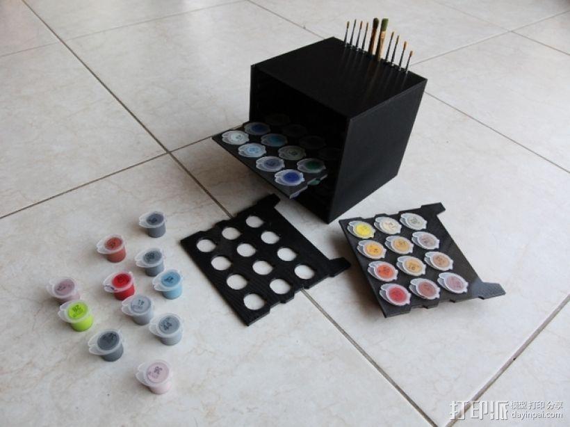 颜料箱 3D模型  图2